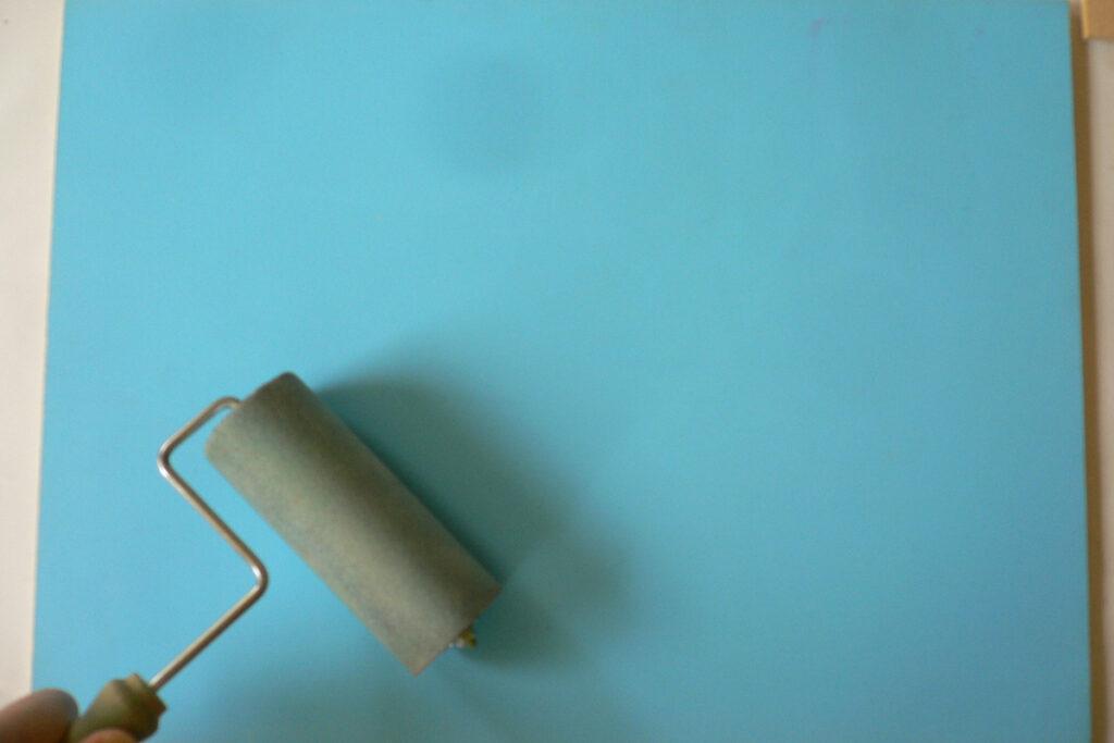板と籐を使った工作