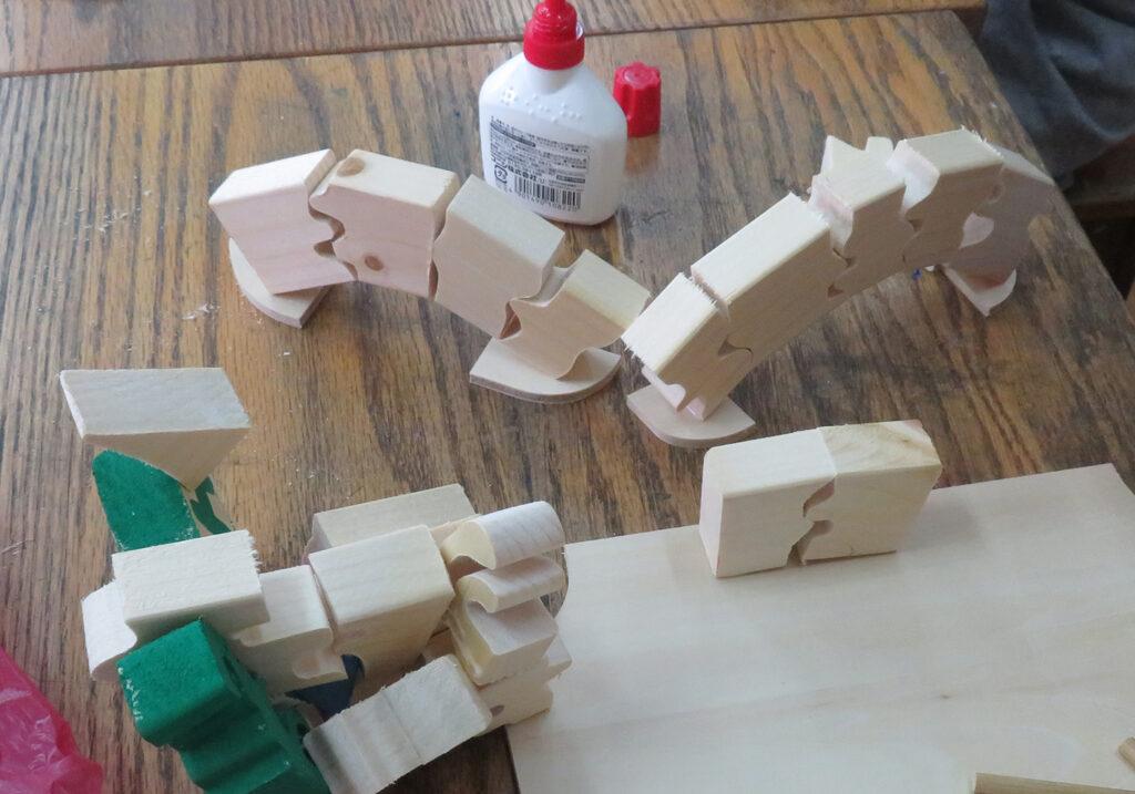 角材を木片にして楽しむ工作