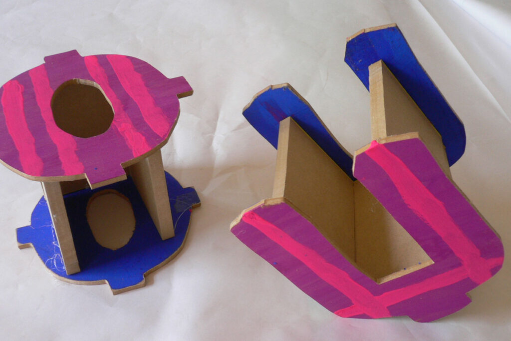 高学年木工作品マイネームボックス