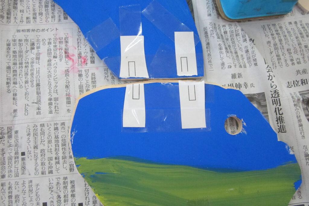 シナベニヤ板で作る鳥