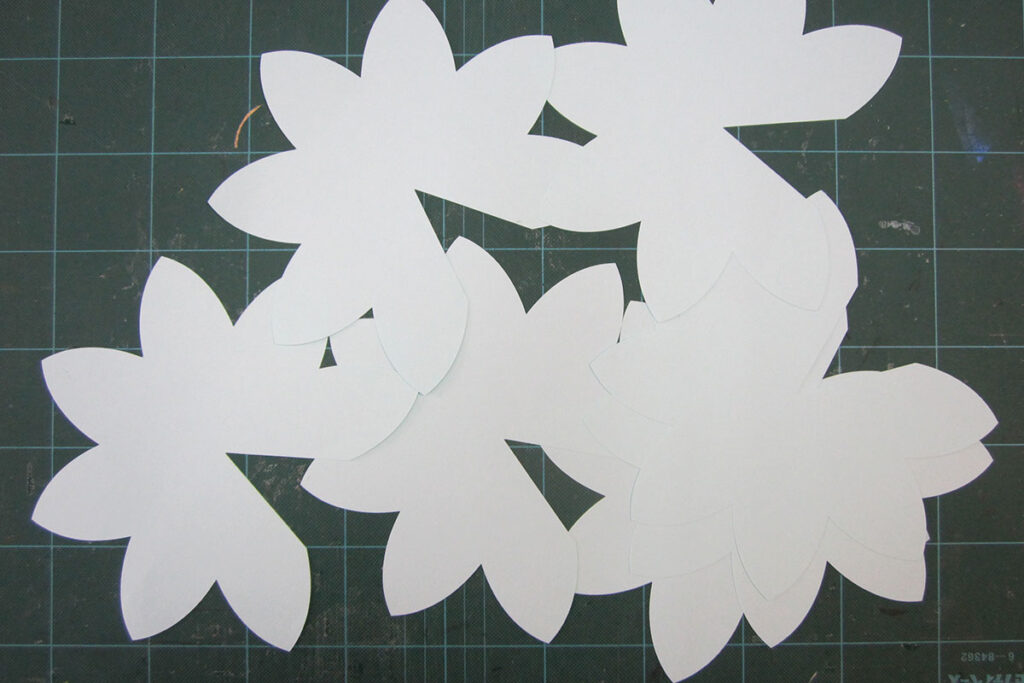 卒業式会場装飾飛び出す花(ポップアップ装飾)