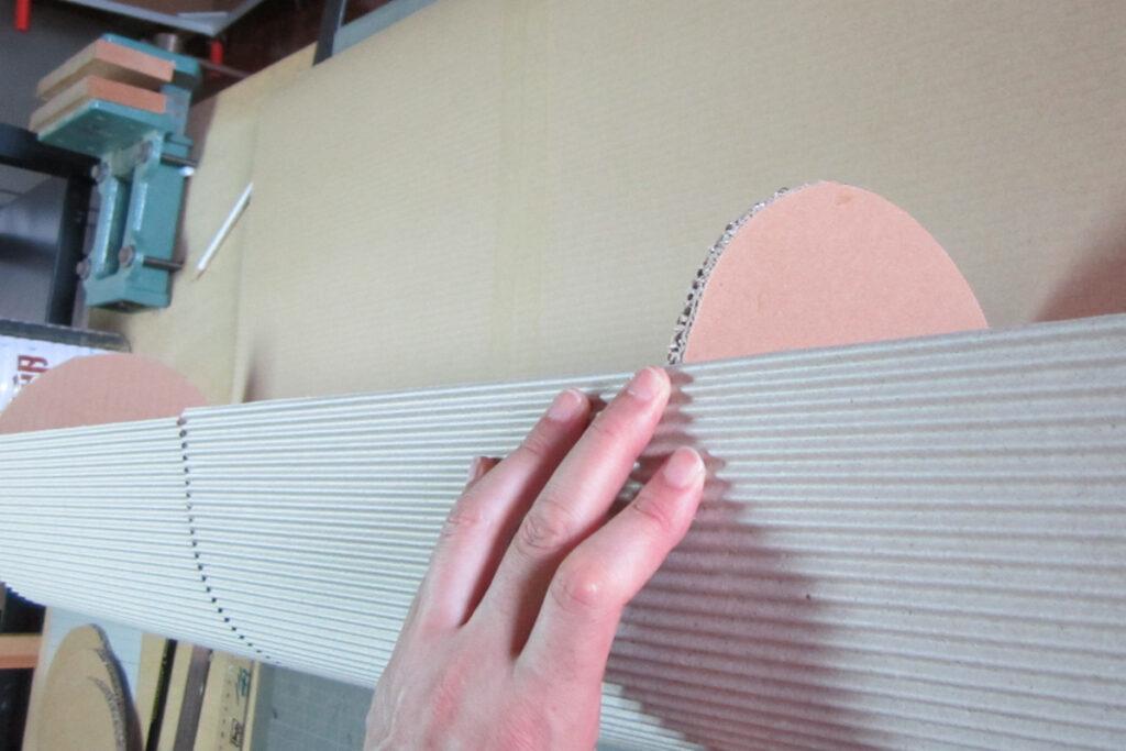 図工展会場内装飾用立体色鉛筆