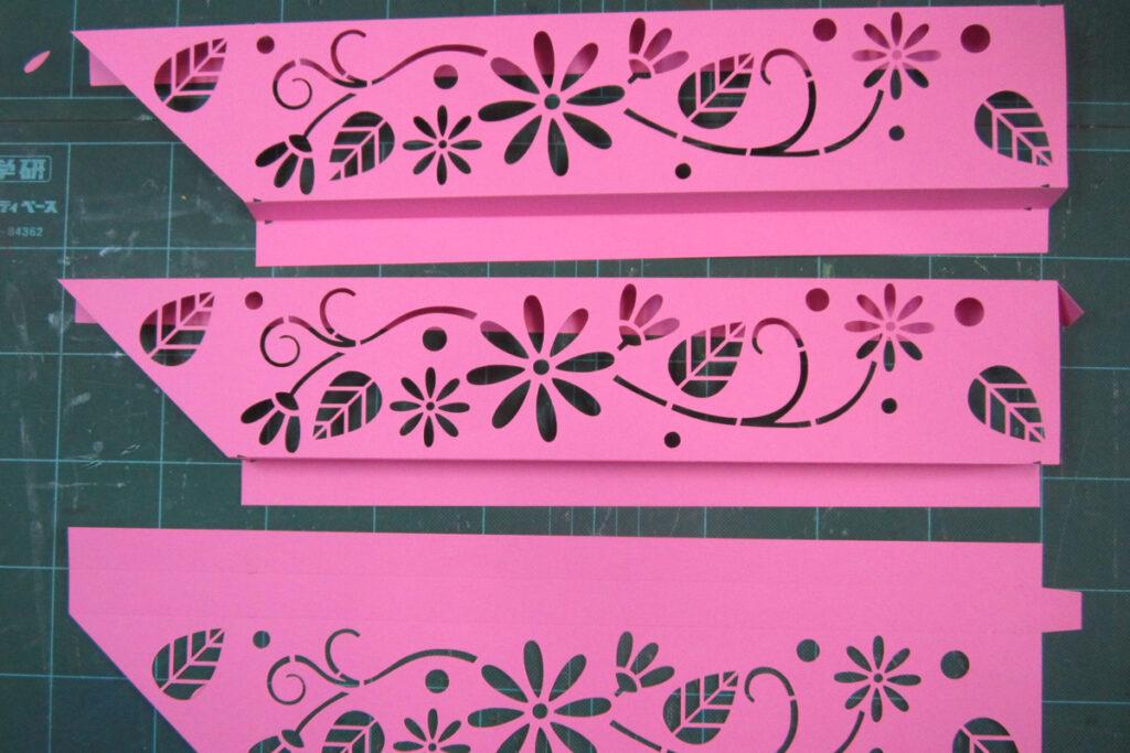 デザインカッターステカを使用した飾り枠