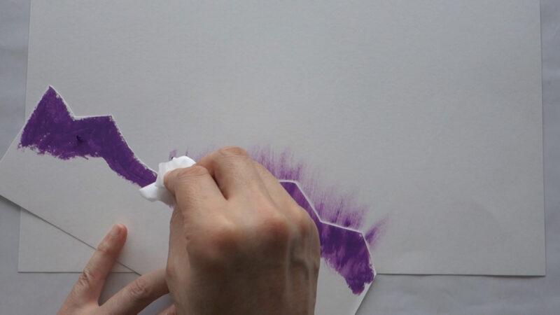 クレヨンパスのぼかし技法