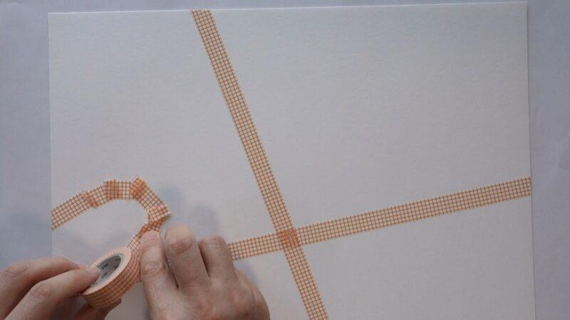 マスキングテープで絵に表す
