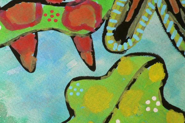 色の模様で塗り分ける未知の生物を求めて