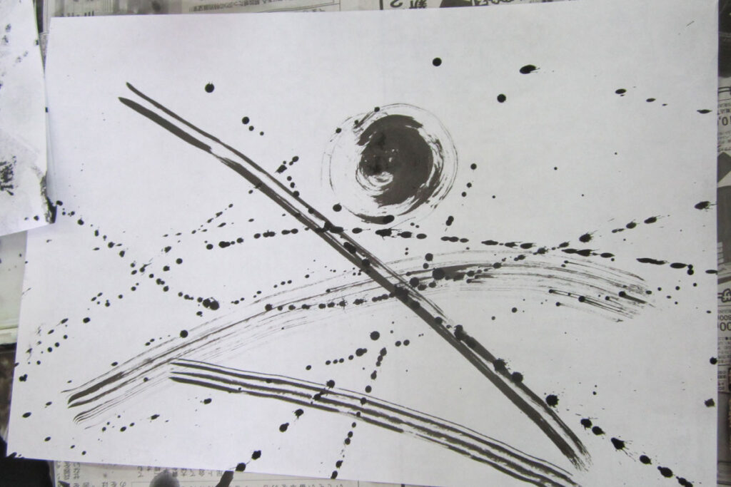墨と模様のアート