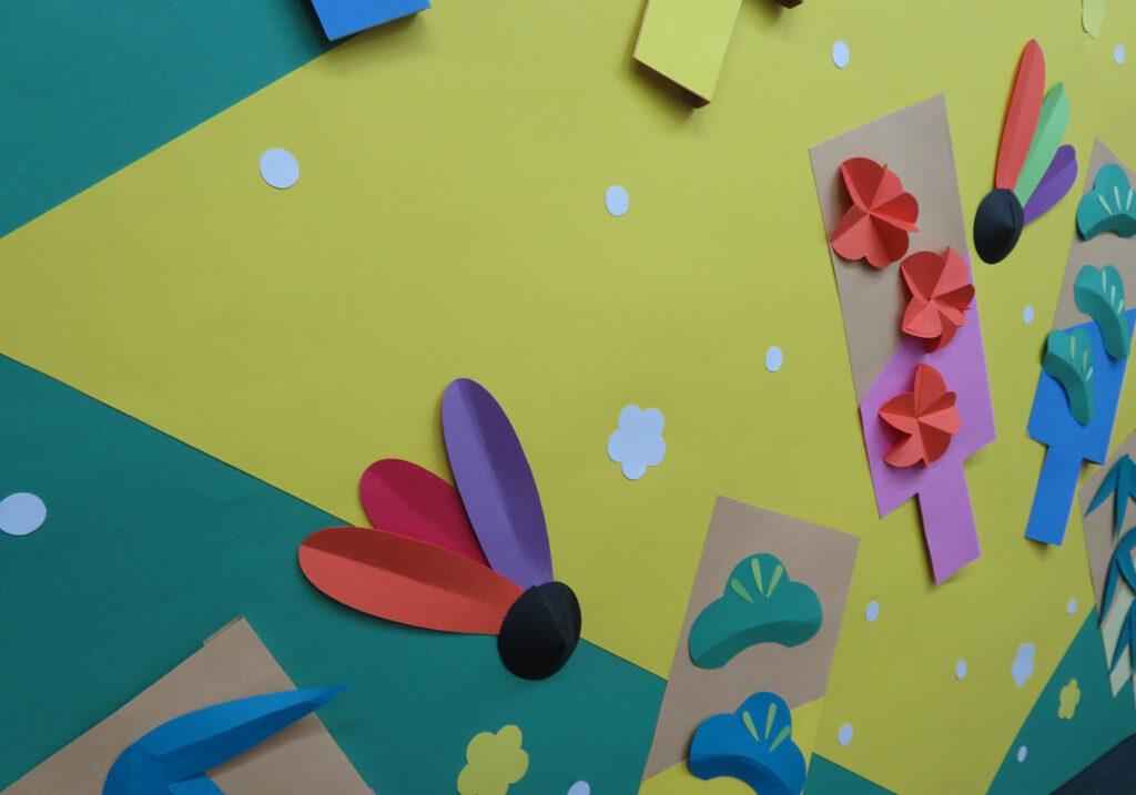 1月の壁面掲示羽子板