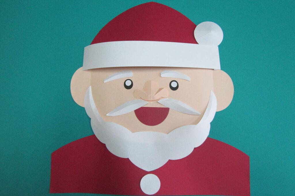 12月の壁面掲示サンタクロース