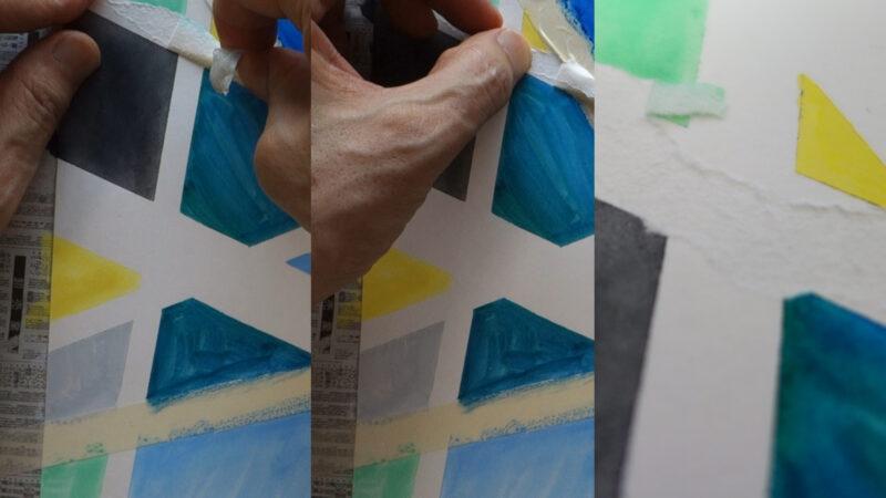 絵の具と使うマスキングテープ